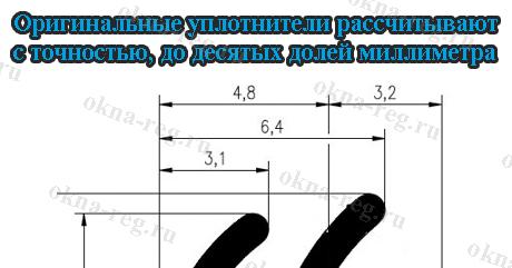 Размеры уплотнителей